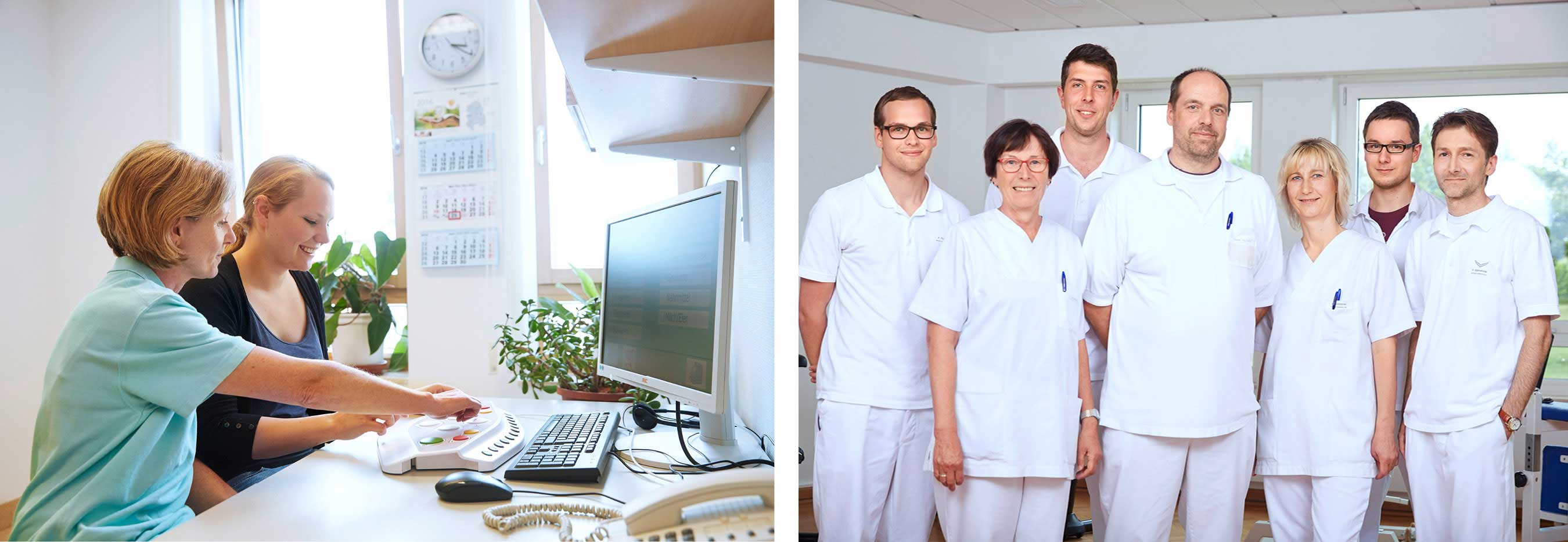 Physiotherapie und Ergotherapie